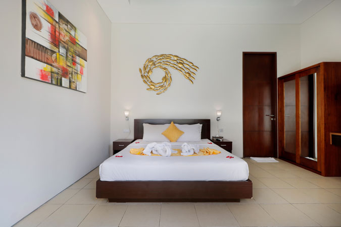 Two Bedroom Pool Villa Bedroom - Sudha Villa Bali