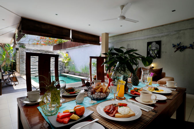 Two Bedroom Pool Villa Breakfist Onvilla - Sudha Villa Bali