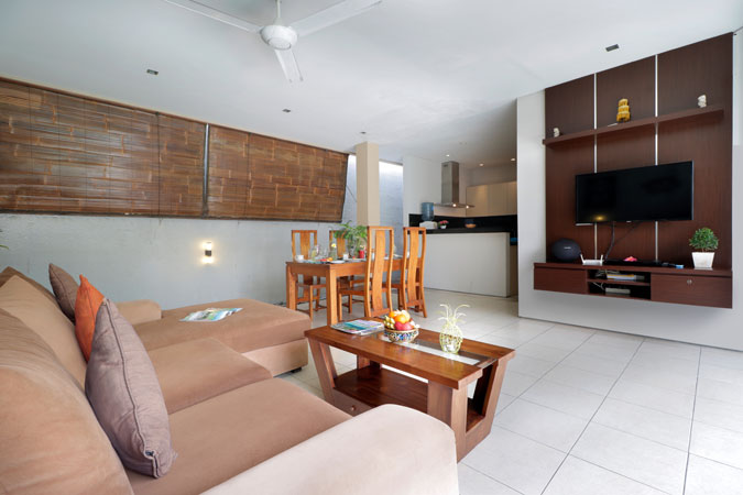 Two Bedroom Pool Villa Living Room View - Sudha Villa Bali