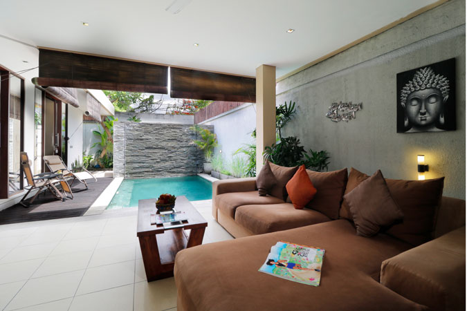 Two Bedroom Pool Villa Living Room - Sudha Villa Bali