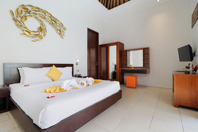 Two Bedroom Pool Villa Room View - Sudha Villa Bali