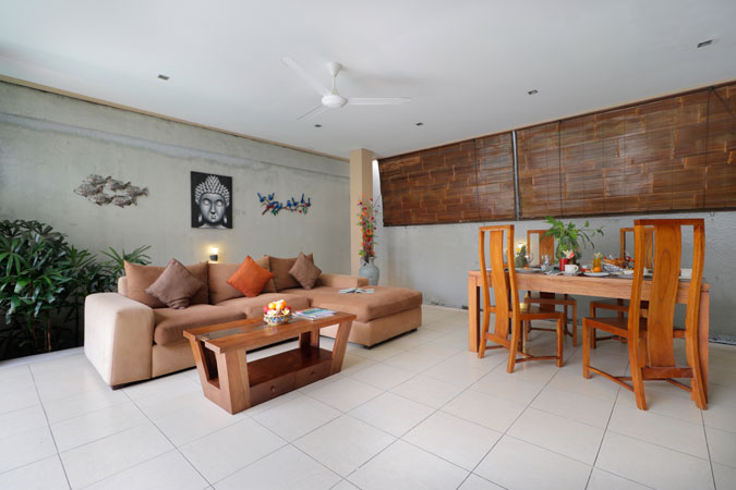 Two Bedroom Pool Villa View Living Room - Sudha Villa Bali