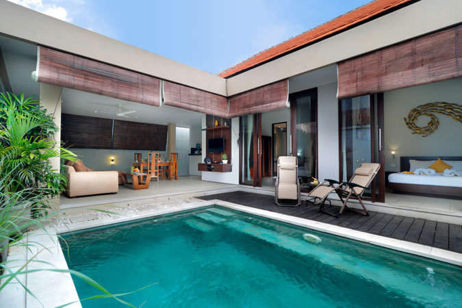 Two Bedroom Pool Villa Wihtpool - Sudha Villa Bali